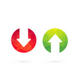 up down arrows red green vector image vector image