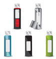 USB Flash drive set vector image