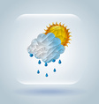 weather symbol vector image vector image