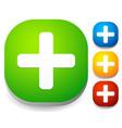 white cross icons vector image
