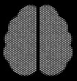 white dotted brain icon vector image