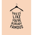 Women fashion dress from quote vector image vector image