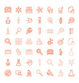 49 research icons vector image vector image