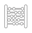 abacus icon design vector image