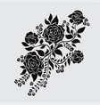 abstract floral decoration vector image vector image