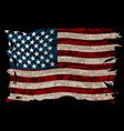 american striped flag vector image