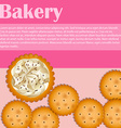 Bakery theme with crackers and text vector image vector image