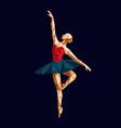 ballerina prima polygonal triangle paper vector image vector image