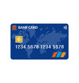 bank card credit card template vector image vector image