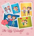 be my valentine festive banner vector image vector image
