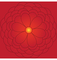 Big red flower vector image vector image