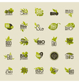 Bio product Set of labels and emblems vector image