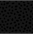 black panther or leopard skin with stains as a vector image vector image