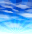 Blue Sky background 2 vector image vector image