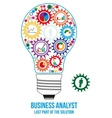 Business analyst design concept vector image vector image