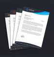 business letterhead template design standard a4 vector image vector image