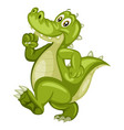 cartoon of an alligator vector image