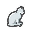 cat silhouette grey icon cartoon vector image vector image