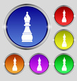 Chess bishop icon sign Round symbol on bright vector image