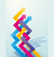 color intersecting arrow pointing upwards vector image vector image