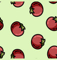 cute cartoon flat style tomato seamless pattern vector image vector image