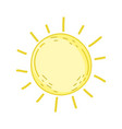 cute sun drawn icon vector image vector image