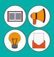 digital marketing concept multimedia network vector image vector image