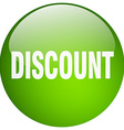 discount green round gel isolated push button vector image vector image