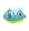 eco city real estate business investment vector image vector image
