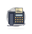 fax message telephone telefax communication flat vector image vector image