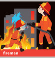 fireman collection vector image vector image