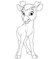 funny little moose child vector image vector image