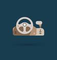 game controller - steering wheel vector image vector image
