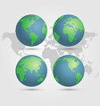 globes earth with world map vector image