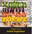 grilled vegetables vegan kebabs healthy vector image vector image