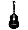 guitar black vector image vector image