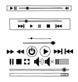 Hand draw sketch doodle audio player for web vector image