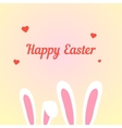 happy easter with love rabbits vector image vector image