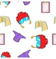 Ice fight pattern cartoon style vector image vector image