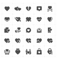 icon set - heart vector image vector image