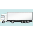 isolated modern truck vector image vector image