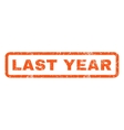 Last Year Rubber Stamp vector image vector image