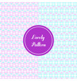 lovely pattern background and texture vector image