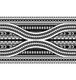 maori style armband horizontal ornament seamless vector image vector image