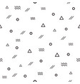 memphis pattern 80s-90s styles with different vector image vector image