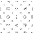 message icons pattern seamless white background vector image vector image