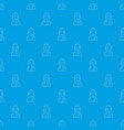 miner pattern seamless blue vector image