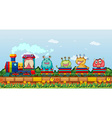 Monsters and train vector image vector image