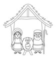 nativity scene cartoon vector image vector image