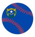 nevada flag baseball vector image vector image